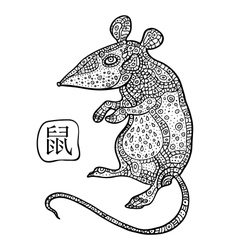 Rat chinese zodiac animal astrological sign vector