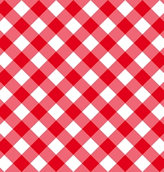 Table diagonal cloth seamless pattern red middle vector