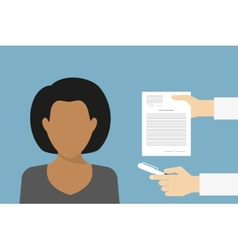 Business manager signing contract vector