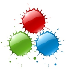 Red ink blob splashes vector