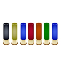 Set of shotgun shells on white background vector