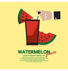 Watermelon juice vector