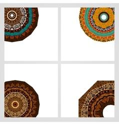 Set of doodles ethnic design elements vector