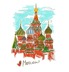 St basils cathedral in moscow vector