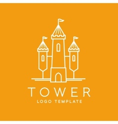 Abstract tower outlined logo template vector