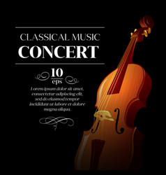 Poster of a classical music concert vector