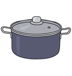 Blue steel pot vector