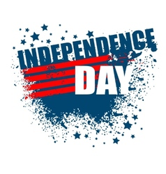 Independence day background abstract grunge vector
