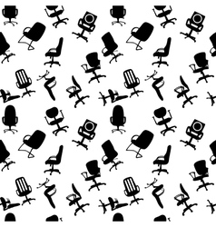 Seamless pattern of office chairs silhouettes vector