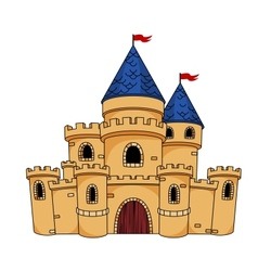 Medieval castle or fortress vector