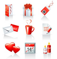 St valentines day icons vector