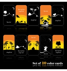 Vacation cards vector