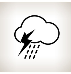 Silhouette cloud with thunderstorm vector