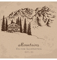 Mountain house vector