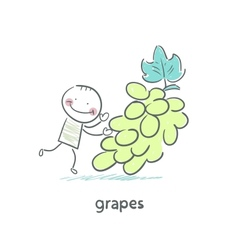 Grapes and people vector