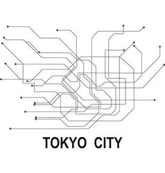 Tokyo subway map vector