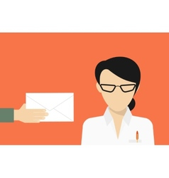 Business manager received a mail vector