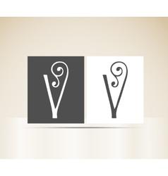 Retro alphabet letter v art deco vintage design vector