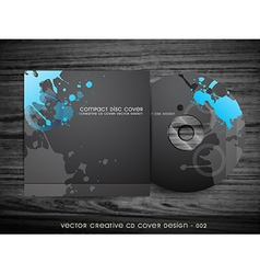 Abstract cd cover design vector