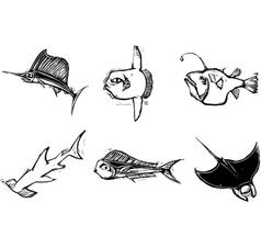 Fish group vector