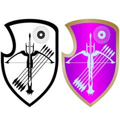 Shield crossbow and arrows-4 vector