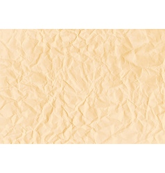 Texture of crumpled horizontal sepia paper vector