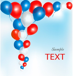 Background with red and blue ballons vector