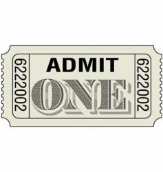 Admit-one-dollar vector