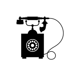 Old vintage telephone vector