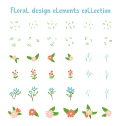 Decorative floral design elements collection vector
