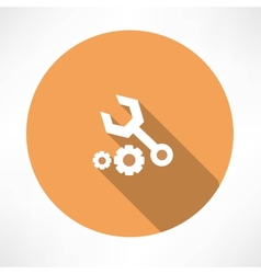 Wrenches and nut icon vector