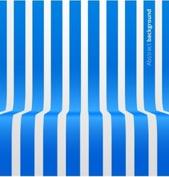 Abstract blue striped perspective background vector