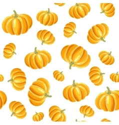 Pumpkin seamless background vector