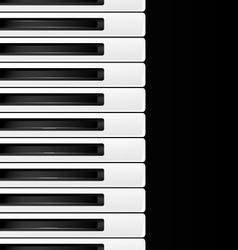 Black and white keys vector
