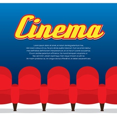 Cinema seats row vector