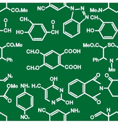 Chemistry seamless background pattern vector