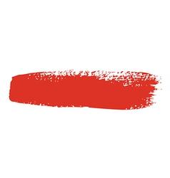 Red brush stroke vector