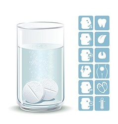 Effervescent tablets vector