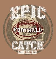 Epic american football vector
