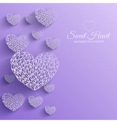 Ornamental decorative heart background vector