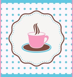 Card with cup vector