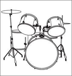 Drum music vector