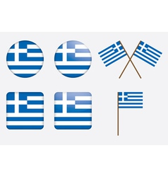 Badges with flag of greece vector