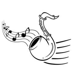 Sax music vector