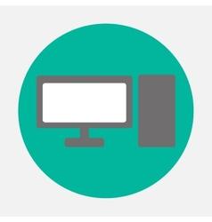 Personal computer icon vector