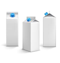 Juice packages 3d vector