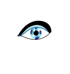 Sign eyes vector