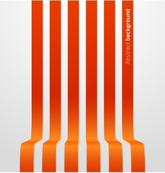 Abstract red striped perspective background vector