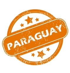 Paraguay grunge icon vector