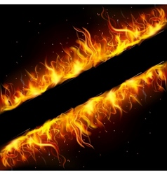Fire frame vector
